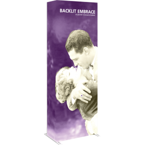 Embrace 2.5ft Full Height Backlit Push-Fit Tension Fabric Display